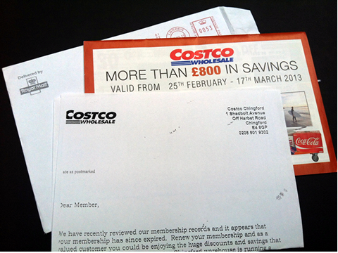costco how to fail at b2b direct marketing campaign