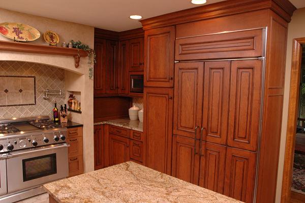 Subzero Refrigerator With Custom Doors