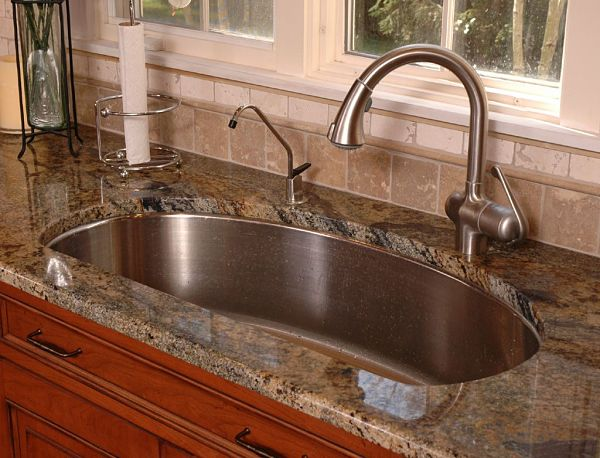 22 by 24 inch single bowl sink for kitchens less than 150 square feet. beautiful ideas. Home Design Ideas