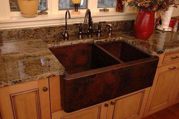 hammered copper farmhouse kitchen sinks tips for selecting the right kitchen sink style for your home 6976