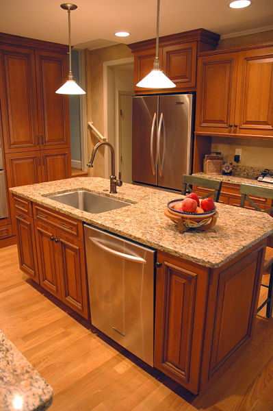 island kitchen sink how to design a kitchen island that works 12764