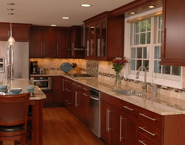 4 design options for kitchen floor plans for L shaped kitchen with island layout