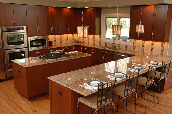4 design options for kitchen floor plans for Square shaped kitchen designs