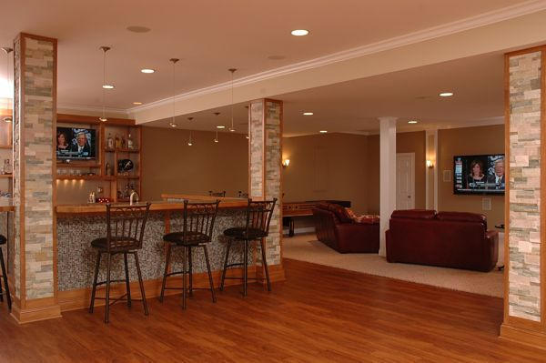 room basement bar sports family game exercise multipurpose expand space basements remodel households configuration everyone many would but men love