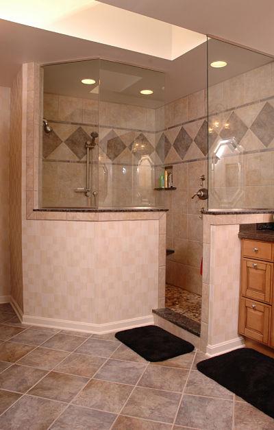Bathroom Design Ideas Kneewall ~ Design options for walk in showers
