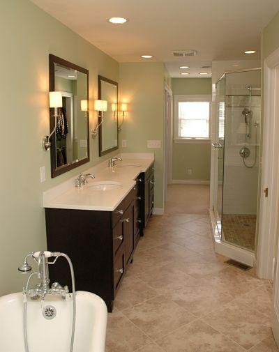Project spotlight master bath for a vintage home for Long master bathroom designs