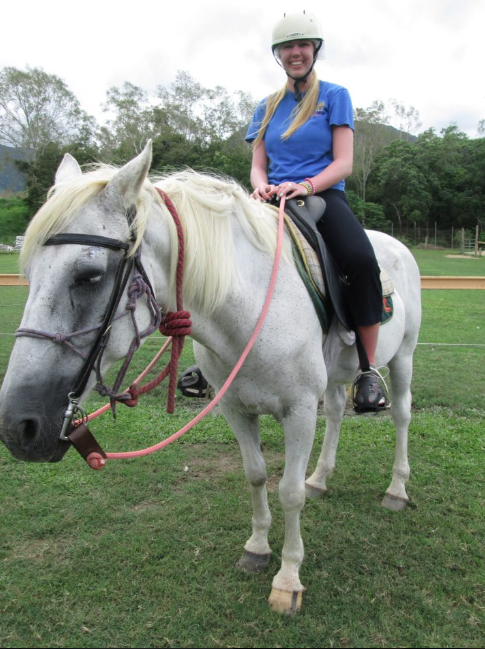 Katie Kohler horseback riding internship in Australia