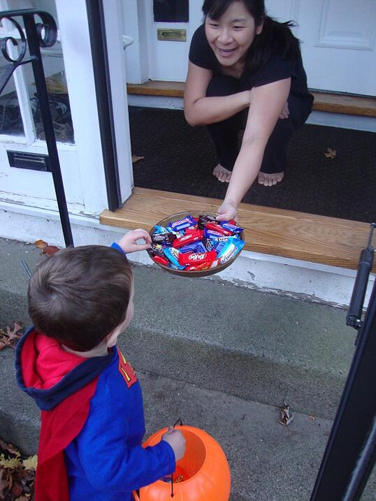 toddler trick or treating