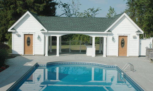 Garages pool houses for Garage pool house