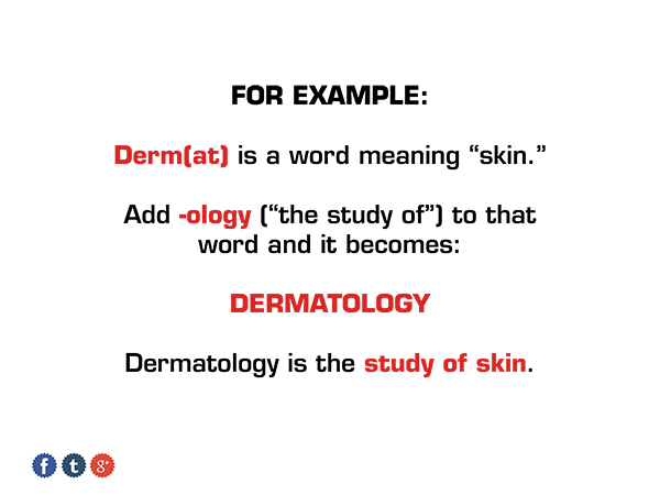 Dermatology suffix medical ap vocab 1