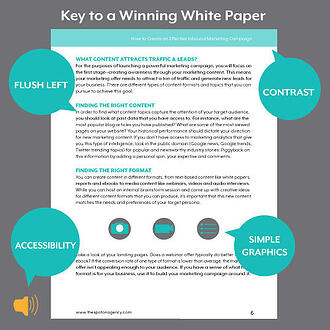 white paper format for content campaigns. Black Bedroom Furniture Sets. Home Design Ideas