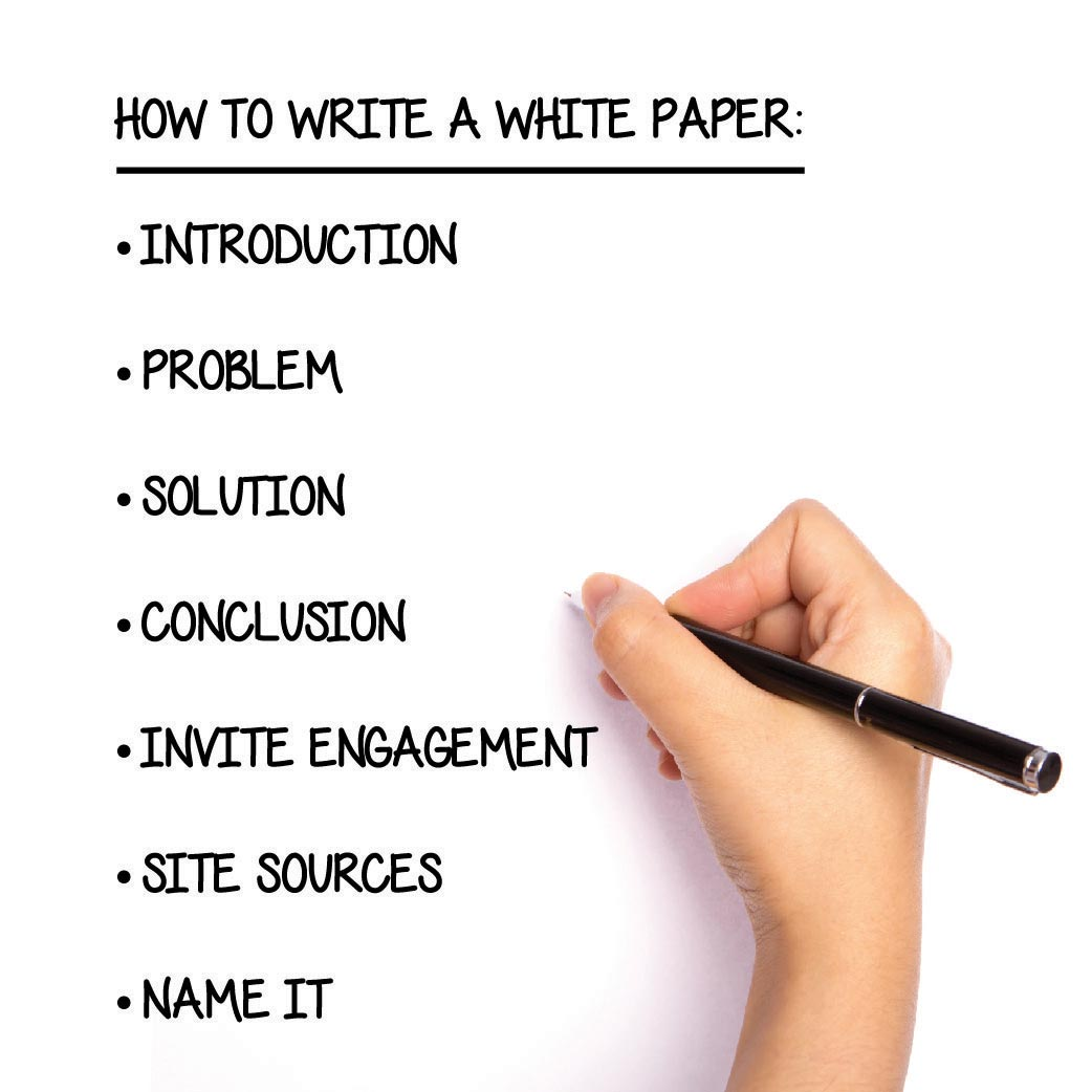 white paper to write on Are you using white papers to promote your business would you like to learn how to write them here's a free white paper on how to write them.