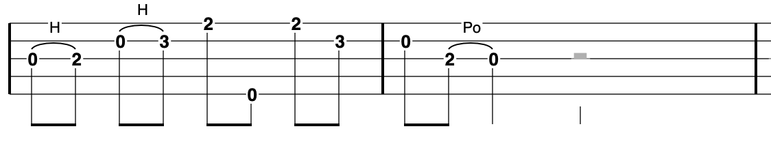 G major pentatonic scale on banjo going up and down