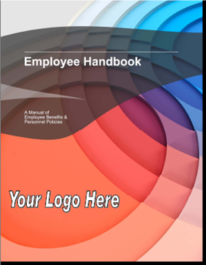 Download your free customizable employee handbook live for Employee handbook cover design template