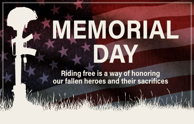 Memorial Day: Riding free is a way of honoring our fallen heroes and their sacrifices