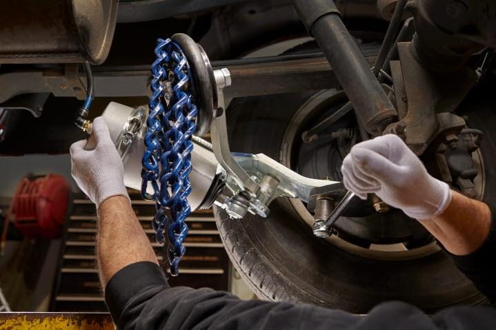 Onspot mechanic adjusting cylinder