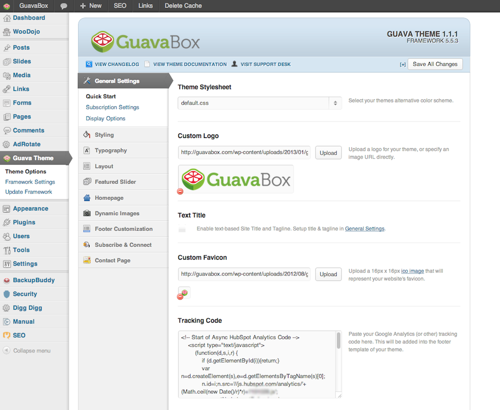GuavaBox Custom WordPress Theme Demo