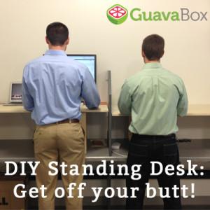 DIY Standing Desk Tutorial from GuavaBox