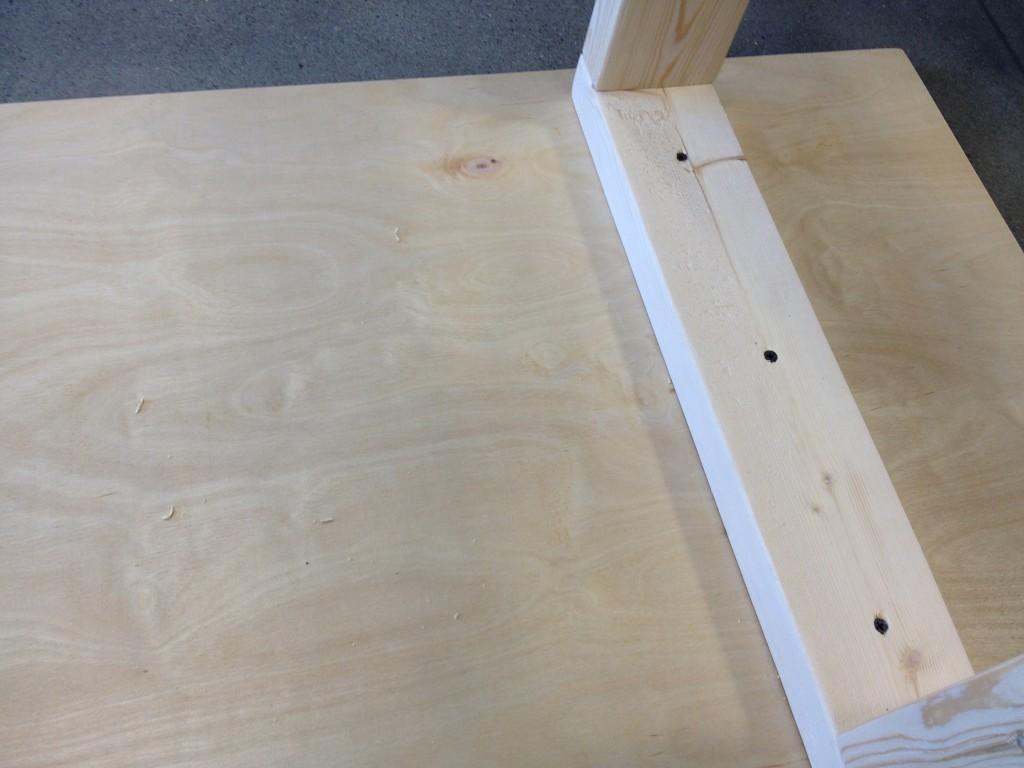 DIY Standing Desk - Secure Bottom