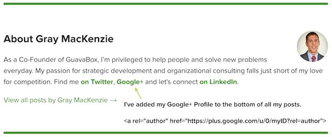 Google Authorship Linking Example
