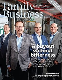 Family Business Magazine MayJune 2018 Cover