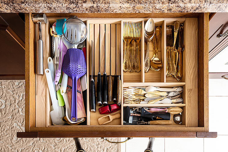 Get Your Kitchen Cabinets & Drawers Organized for Good with These Tips