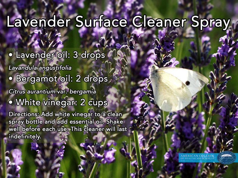 green cleaning with lavender essential oil