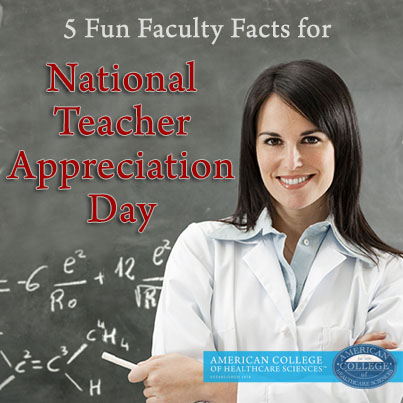 5 Fun Faculty Facts For National Teacher Appreciation Day 2014