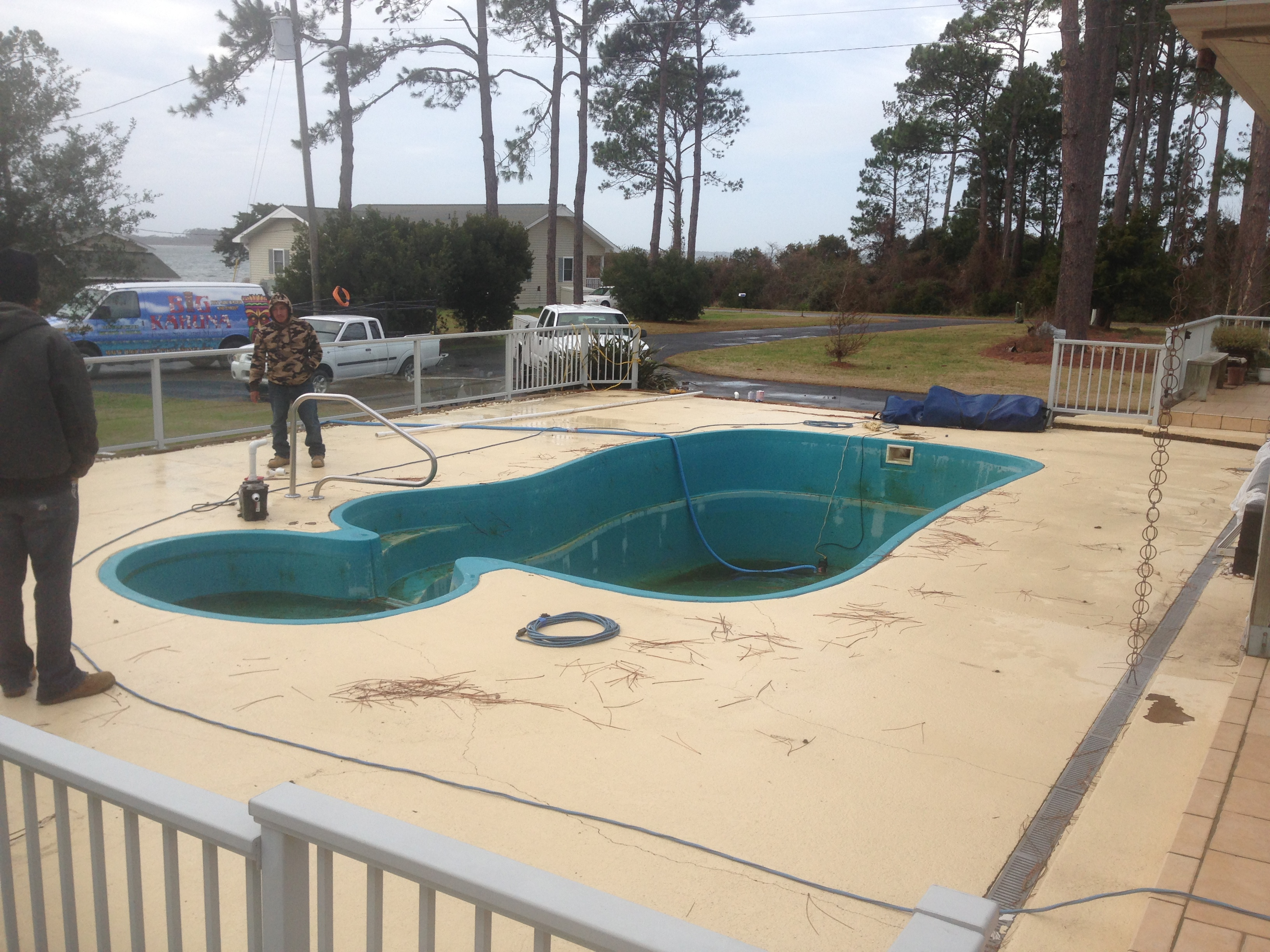Tile Over Concrete Pool Deck Swimming Pool Renovations Commercial And Residential