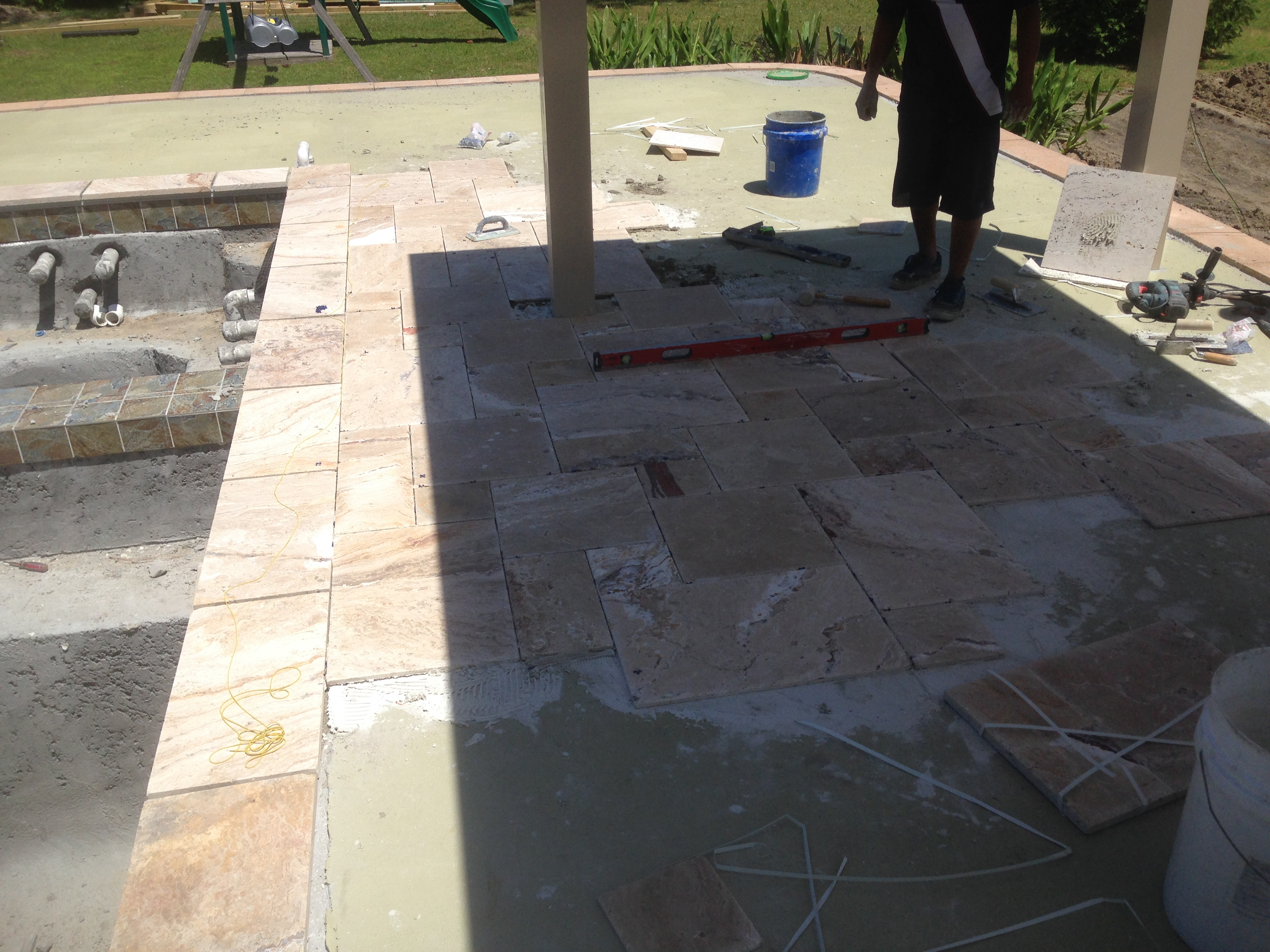 Laying tile over concrete slab tile designs putting tile over concrete patio designs dailygadgetfo Image collections