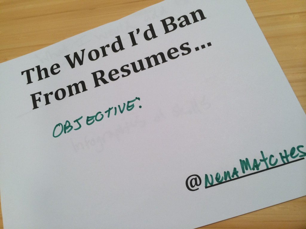 do you really need a resume objective