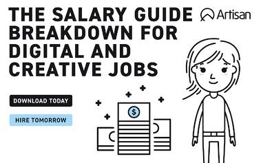 the salary guide breakdown for digital and creative jobs