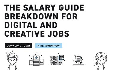 the salary guide breakdown for digital & creative jobs