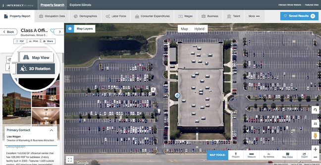 Virtual site visits for commercial properties