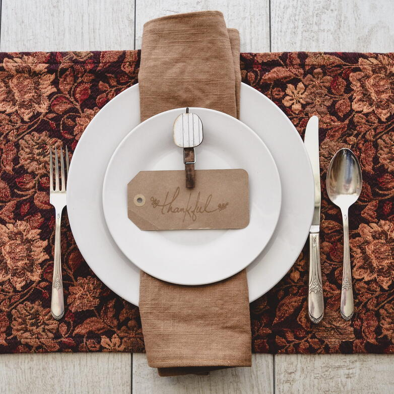 Feeling thankful place setting