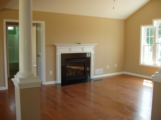 Gas Fireplace in Family Room