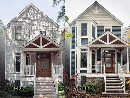 James Hardie before and after