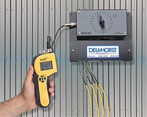 A Delmhorst moisture meter hooked into a KIL-MO-TROL in-kiln monitoring system.