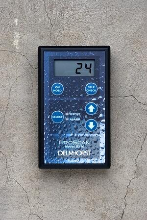 The ProScan is often used to check moisture near the surface of concrete, but deeper tests are often necessary.