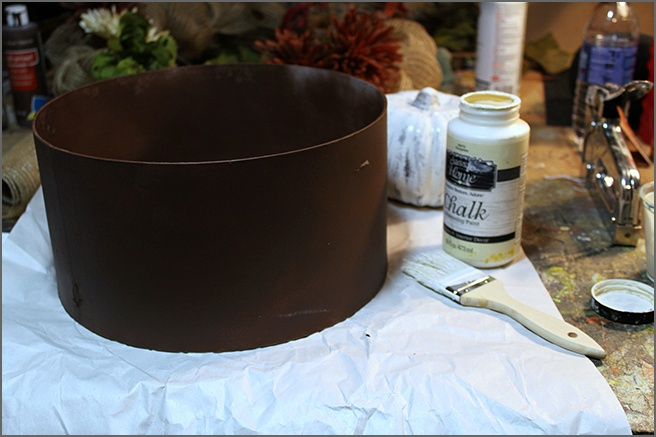 Festive Fall Hat Box Materials