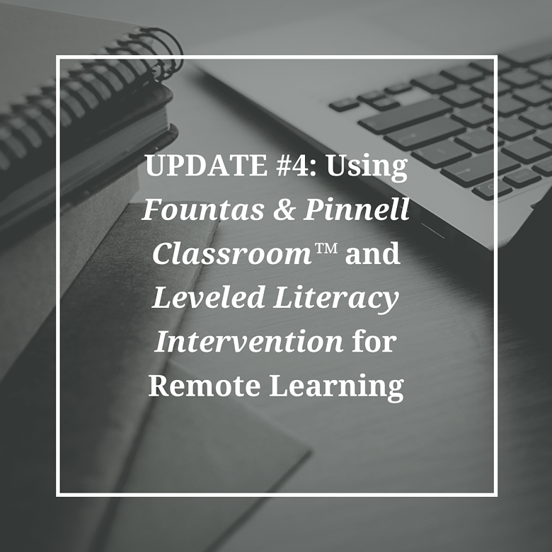 Fountas and Pinnell Updates (1)