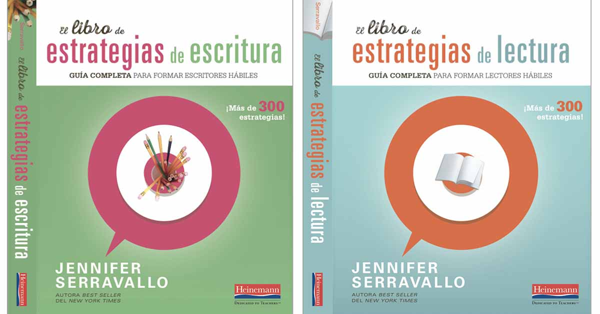 Image. Jennifer Serravallo's book The Reading Strategies Book and The Writing Strategies Book in Spanish.
