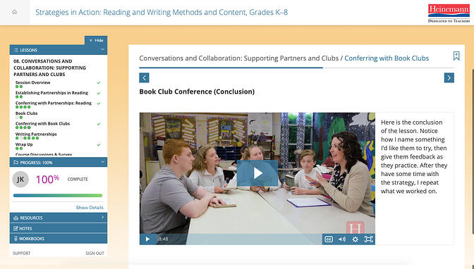 Serravallo Course Screenshot