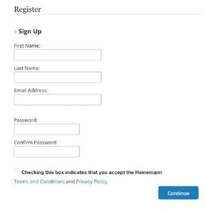Signup page