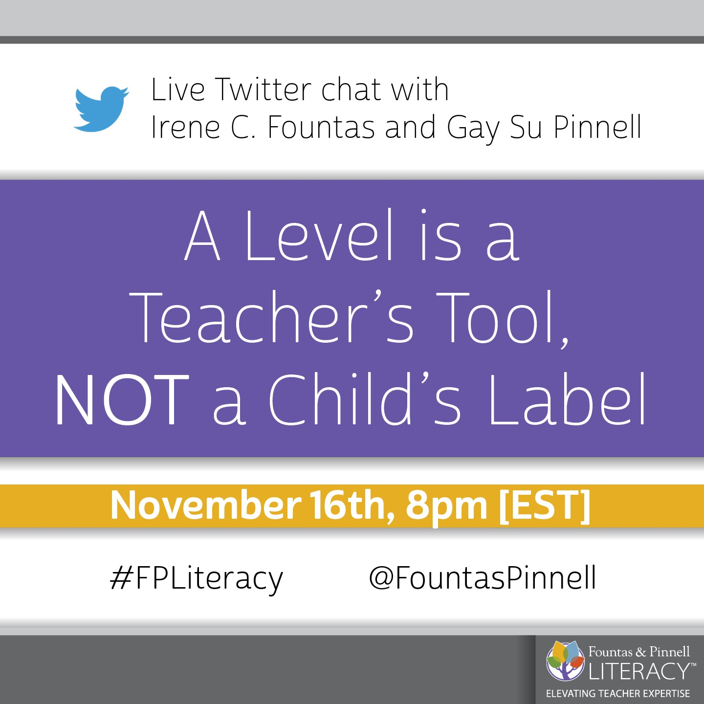 Twitter Chat - Level is a Teacher's Tool-1