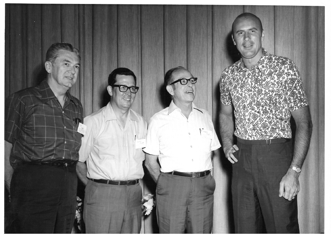 Faculty members and LSU basketball player Bob Pettit, 1967 graduate of the School