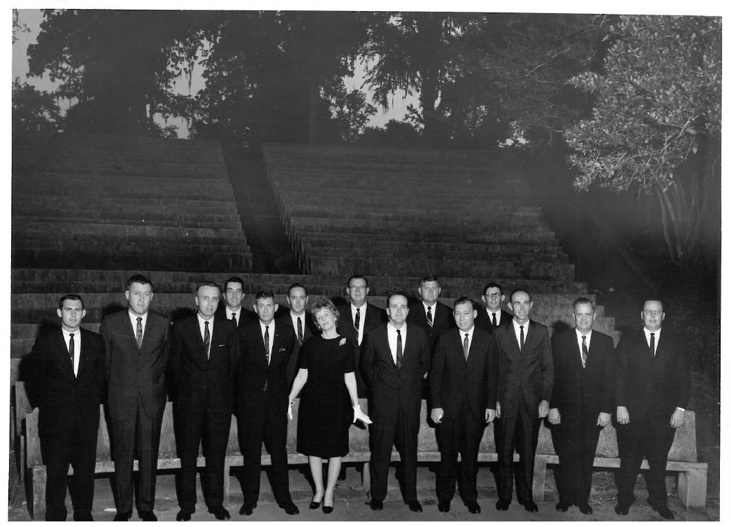 1960's graduating class in the LSU Greek theater
