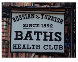 Russian Bath sign