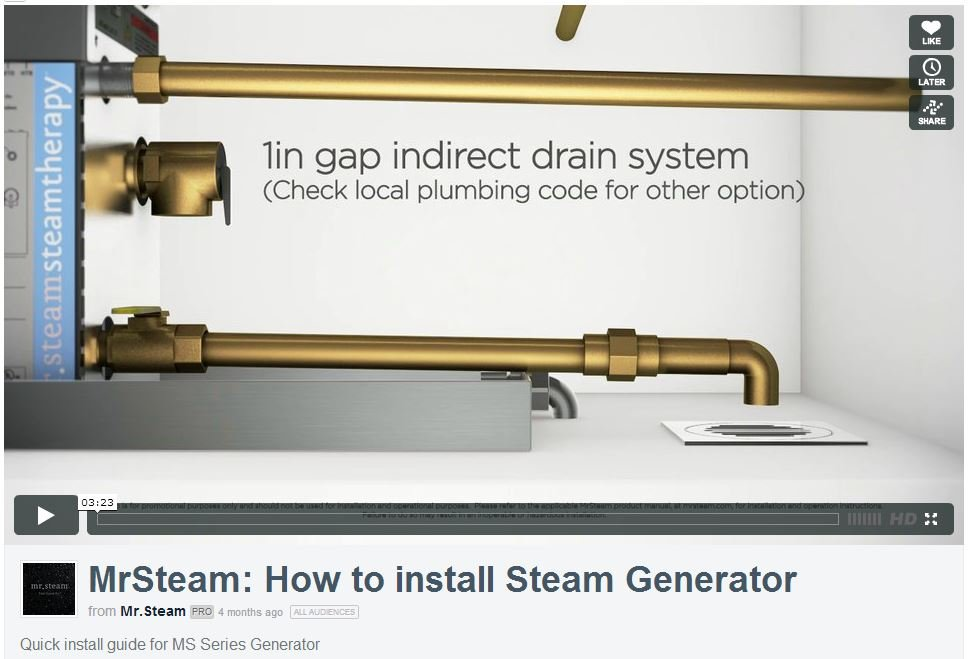 How To Install a Steam Generator: 3 Min. Video from Mr.Steam