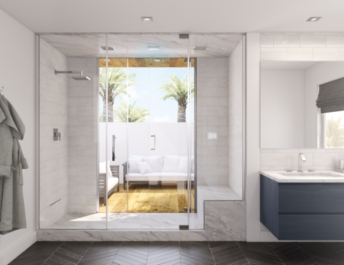 See the Light: How to Use Windows in Your Steam Shower Project